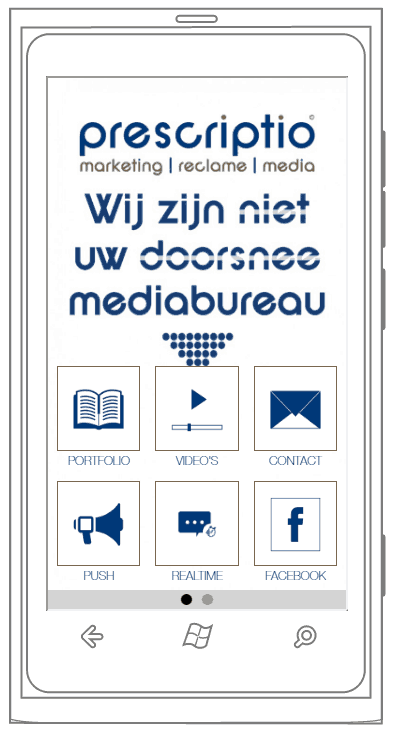 prescriptio marketing reclame media: apps voor iOS, Android en Windows