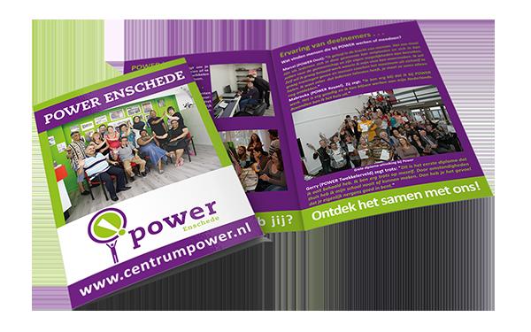 prescriptio marketing reclame media: Grafisch ontwerp Power Enschede (Gemeente Enschede)