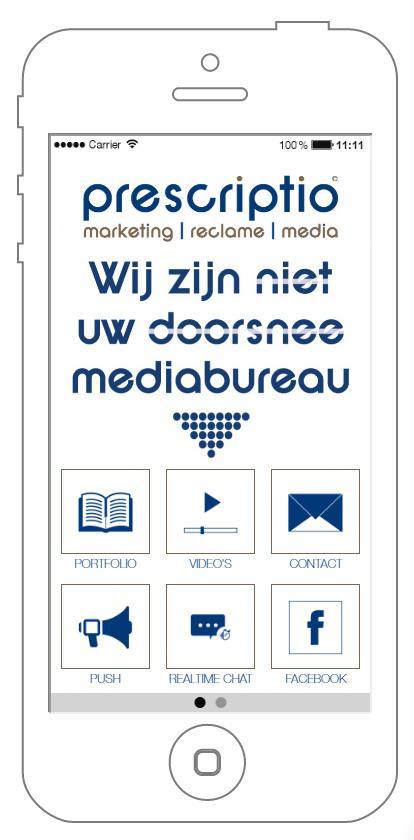 prescriptio marketing reclame media: apps voor iOS, Android en Windows