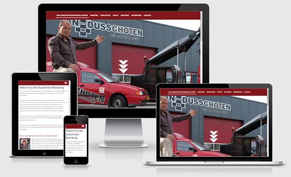 Website Van Dusschoten Bestrating - Enschede