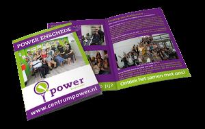 Grafisch ontwerp: Flyer Power Enschede (Gemeente Enschede)